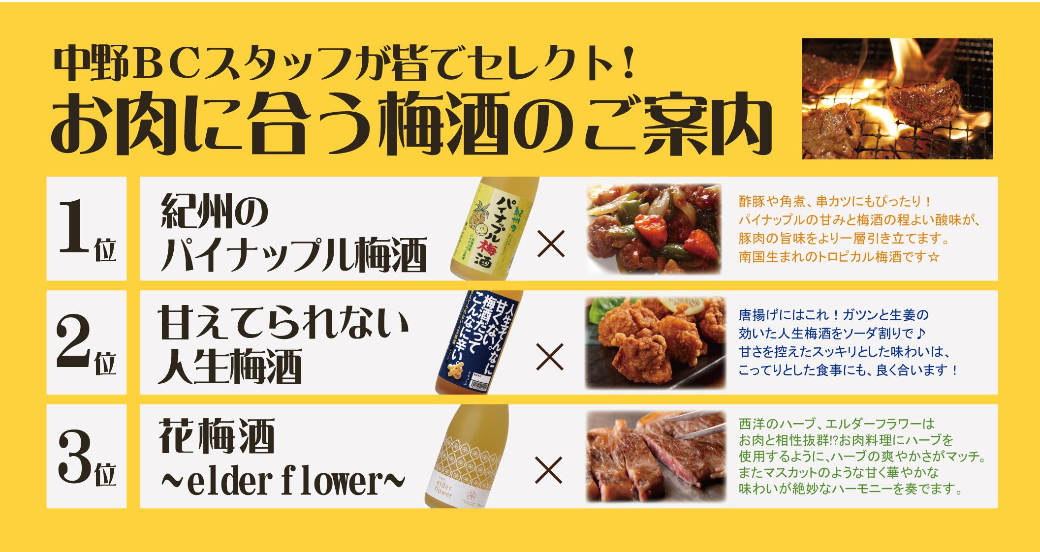 【提案書】肉に合う梅酒