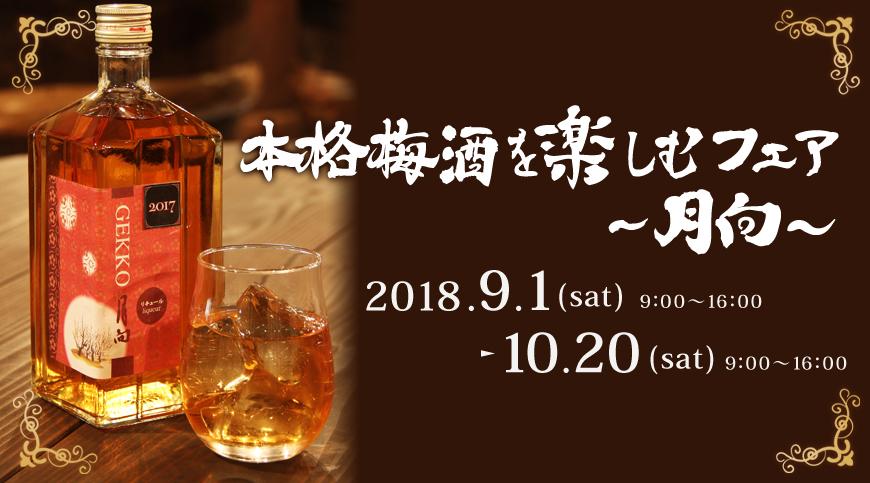 本格梅酒を楽しむフェア〜月向〜